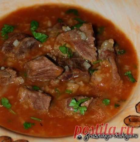 Как приготовить грузинский суп харчо из говядины