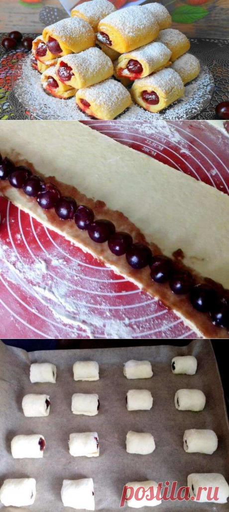 «Вишни под снегом» за 30 минут — вкусное и хрустящее печенье с кислинкой | Бабушкины секретики