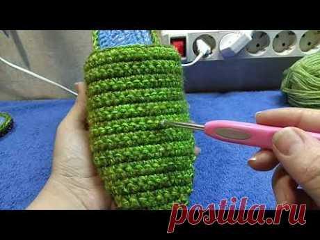 Домашние тапочки крючком на основе войлочных стелек ЧАСТЬ 3 или как удачно утилизовать остатки ниток