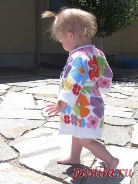 Банный халатик из полотенец для ребенка. Мастер-класс (Шитье и крой) — Журнал Вдохновение Рукодельницы