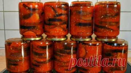Баклажаны в томатном соке. Очень вкусно и легко! Я уже очень давно закрываю баклажаны на зиму в томатном соке. Добавляю...