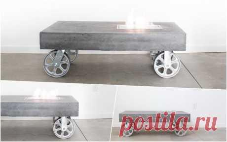 20 Уникальных вариантов простой мебели из бетона