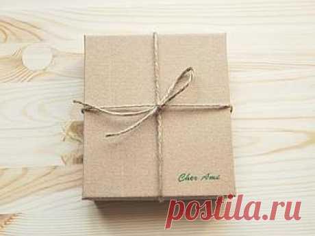 Стильная коробочка из картона