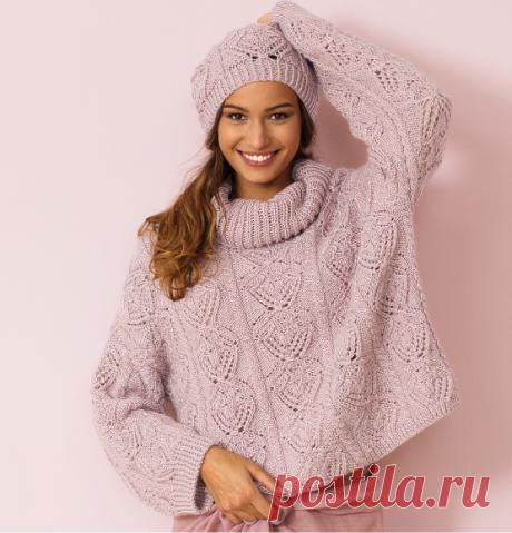 Ажурный свитер оверсайз из полушерсти - лучший подарок дочке на Новый год | Тепло о вязании | Яндекс Дзен