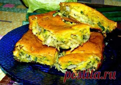 Заливной капустный пирог Автор рецепта Ольга - Cookpad