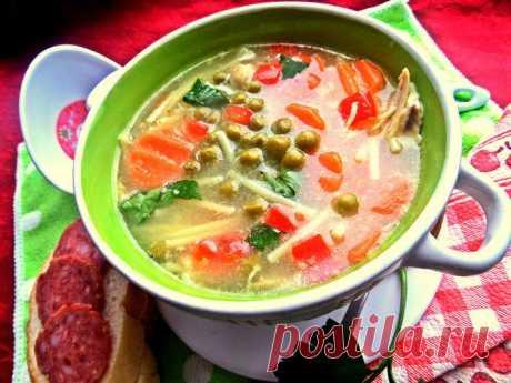Суп с овощами и спагетти   edahub.ru