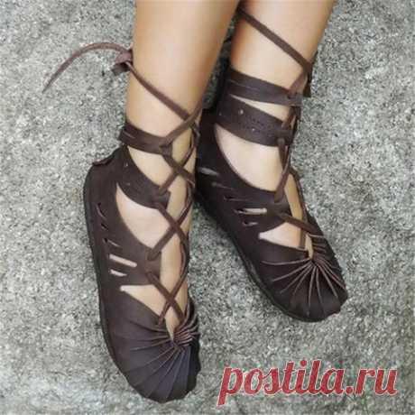 Women's Casual Lace-up Sandals Plus Size Celtic shoes Shoes,Women's Sho,Women's Casual Lace-up Sandals Plus Size Celtic shoes,KAYOULI