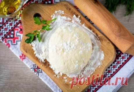 Простое тесто для чебуреков с уксусом