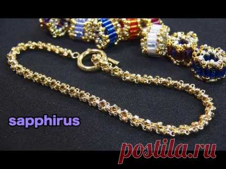 ◇instagram◇ https://www.instagram.com/sapphirus_beads Previous video↓ Beaded Rondelle with seed beads (Cylinder/Bugle). https://youtu.be/27HPd1hfsrE 前回の動画の続き...