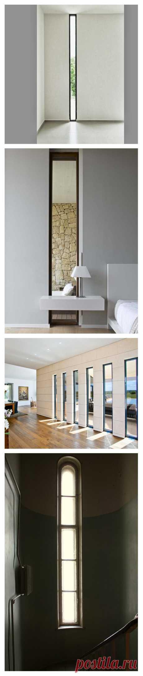 Narrow windows. Headache of builders or effective detail of an interior?