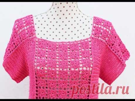 Blusa a crochet para mujer muy facil y rapida
