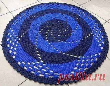 Коврик крючком «Спираль»