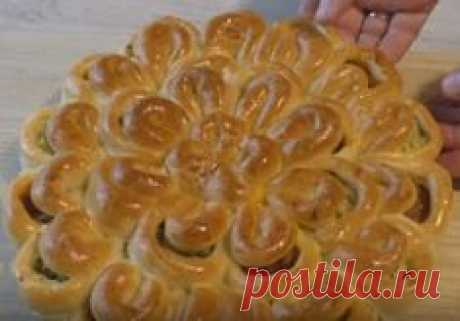 Необычный пирог с мясным фаршем и картофелем