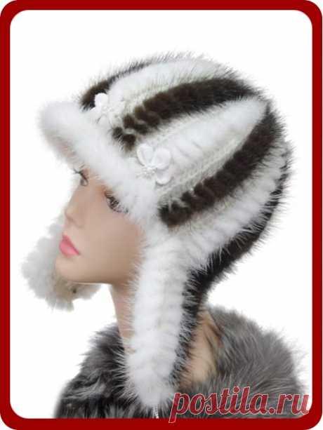 Зимние вязаные с мехом шапочки. Идеи и немного техники - МирТесен