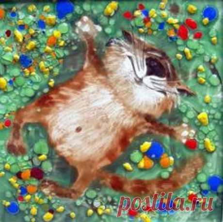La vida felina en las estampas de Anatoly Yaryshkina   Лолкот.Ру
