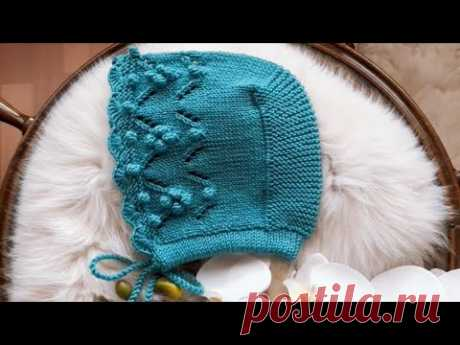 DURU Ajurlu Kız Bebek Şapkası #elörgüsü #handmade #crochet #knitting #bonnet
