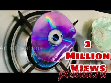 Recycling CD Craft Idea | CD Recycling Idea  | CD craft DIY  | Art n Creations
