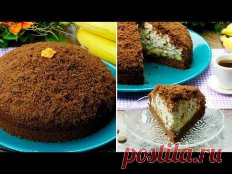 """Торт """"Норка крота"""" - настоящее воплощение нежности, вкуснее этого десерта ничего не бывает! Наша """"Норка крота"""" отличается от всех других похожих рецептов это..."""