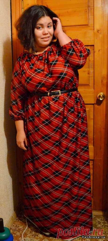 Шьём платье в пол за 2 часа. Пойдет и дамам с пышныи формами