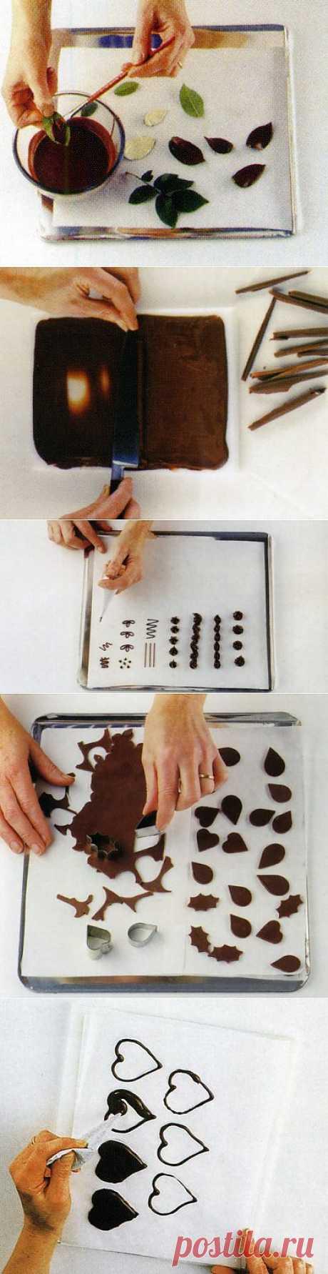 торт в домашних условиях - украшаем листиками, завитками, фигурками из шоколада - торты в домашних условиях - кулинарные рецепты с фото - кулинарные рецепты с фотографиями