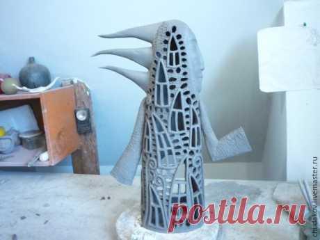 Мастер-класс: делаем керамический светильник «Человеко-дом».