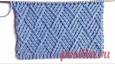 Оригинальный плотный узор Ромбы спицами для вязания свитеров, кардиганов, шапок