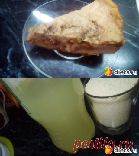 Манник с яблоками, изюмом на сыворотке-без муки. Это не пирог, это -запеканка-десерт! Назовите-как хотите!   Дневники - на Diets.ru