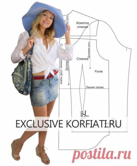 Выкройка женской рубашки от Анастасии Корфиати