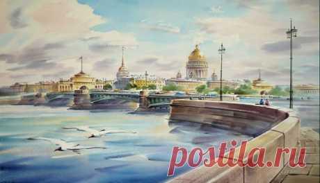 Санкт-Петербург в акварелях Константина Кузёмы