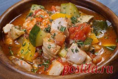 Курица с овощами: диетический ужин