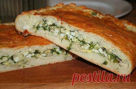 Пирог с яйцом и зелёным луком « Пьяный повар