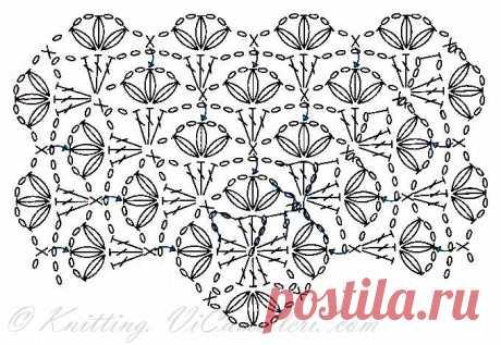 Название: Детский квадратный плед крючком   Мир вязания Найдено в Google. Источник: knitting.vicamilleri.com