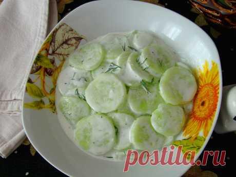 Постигая искусство кулинарии... : Немецкий огуречный салат (Gurkensalat)