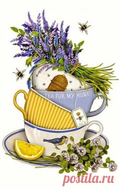Lavender Tea Cup (Mary Lake Thompson)