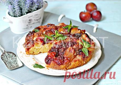 Пирог со сливами на кефире. Пошаговый рецепт с фото • Кушать нетКушать нет