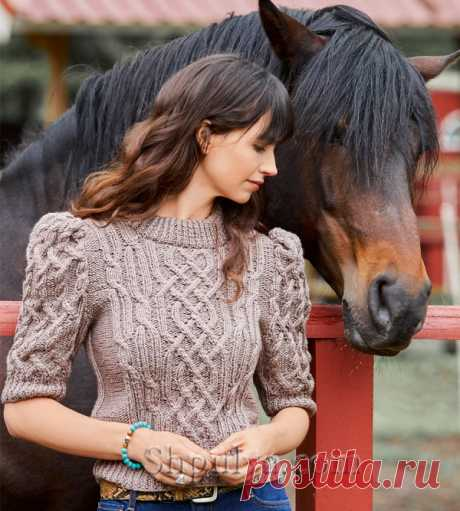 Пуловер с «косами» и рукавами-буф - SHPULYA.com