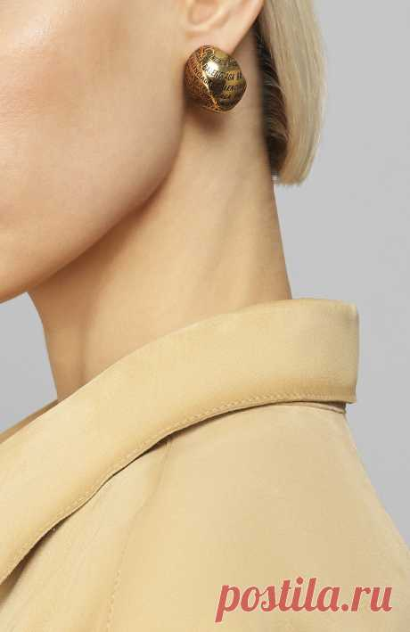 Женские золотые серьги BALENCIAGA — купить за 35600 руб. в интернет-магазине ЦУМ, арт. 599389/TZ99J