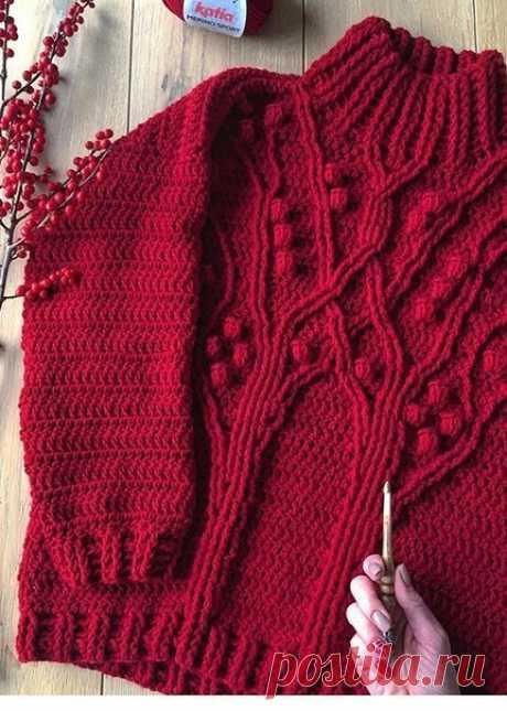 Идея. Для вдохновения  (схема ориентировочная) #идея_@crochet_group #свитер