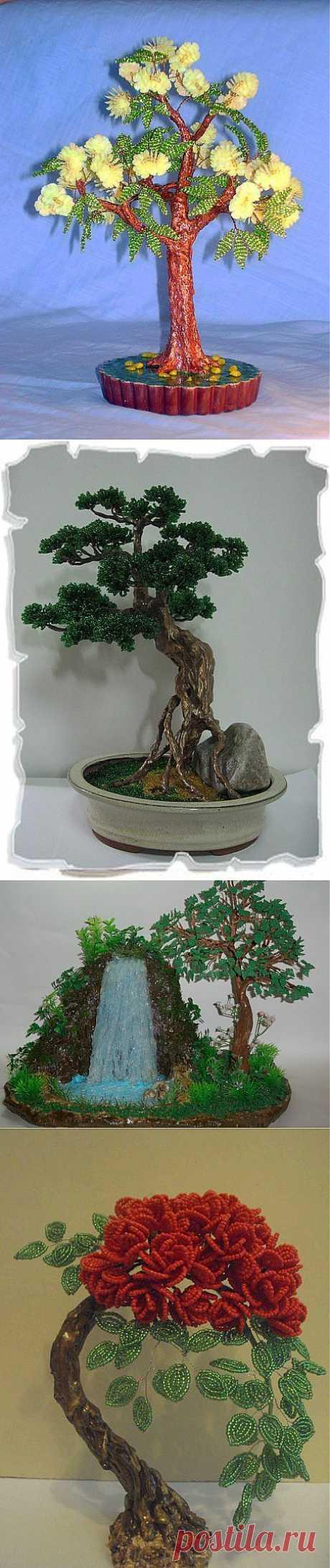 Сегодня у нас деревья из бисера. Вдохновение от мастеров! #вдохновлялки@spigelds