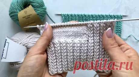 Классная двусторонняя резинка (Вязание спицами) – Журнал Вдохновение Рукодельницы