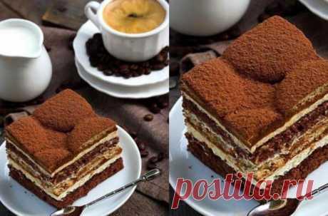 Бисквитный тортик «Вкус латте макиато»