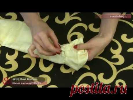 Обработка манжета без разреза рукава
