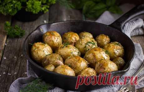Запечённый картофель по-средиземноморски