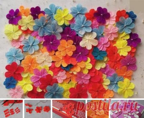 Мастер-класс по изготовлению несложных, но симпатичных цветочков из гофрированной бумаги.