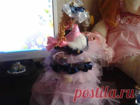 Кукла с конфетами. Первый опыт и довольно удачный!
