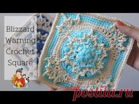 Blizzard Warning Crochet Square