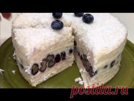 Никто не верит из чего приготовлен этот тортик. Быстрый тортик без выпечки.