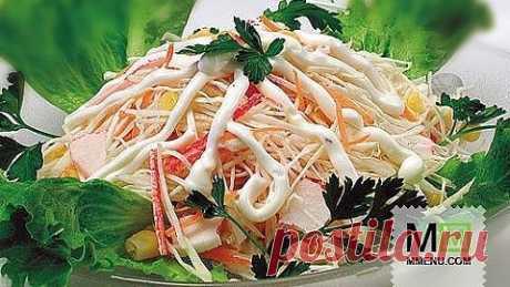 Салат скрабoвыми палочками - кулинарный рецепт. Миллион Меню