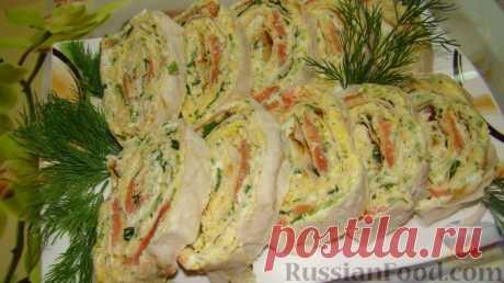 Рецепт: Лаваш с рыбой на RussianFood.com