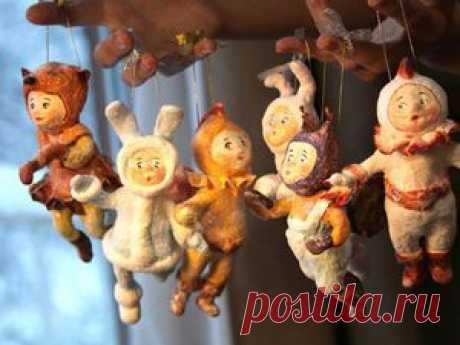 """""""Ребятки на елочку"""": мастерим ватные елочные игрушки - Ярмарка Мастеров - ручная работа, handmade"""